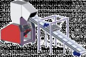 Подаващ конвейр с магнитен сепаратор